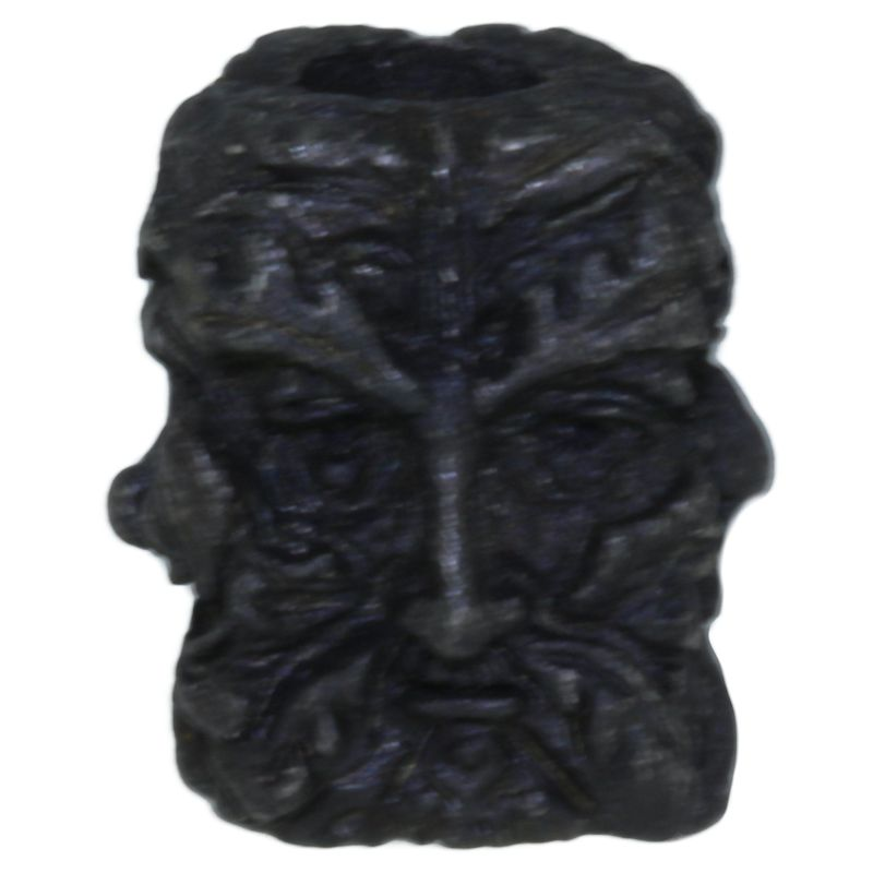 Green Man Bead in Black Oxide Finish by Schmuckatelli Co.