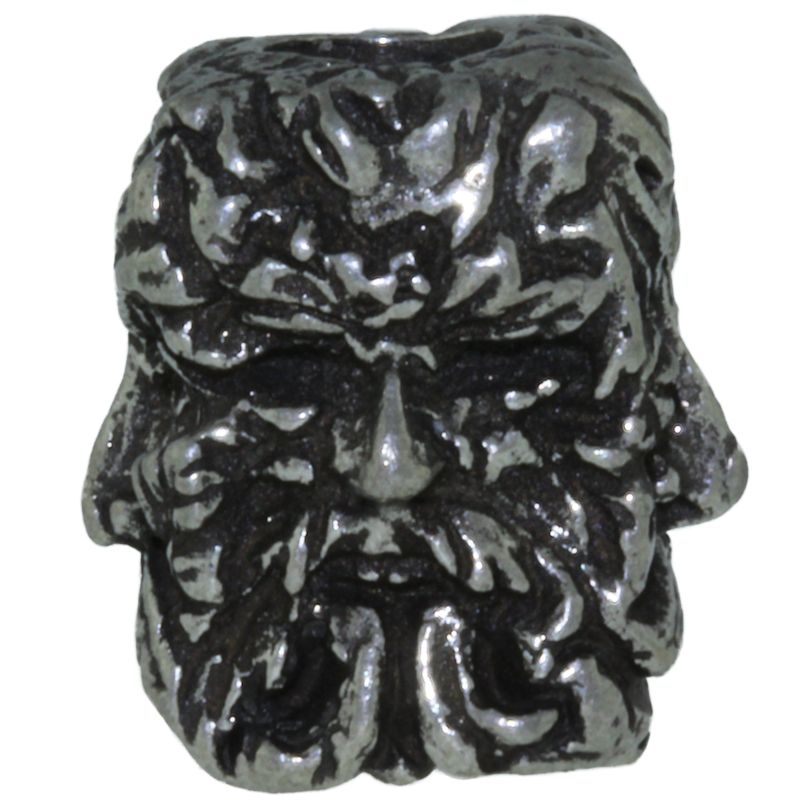 Green Man Bead in Pewter by Schmuckatelli Co.