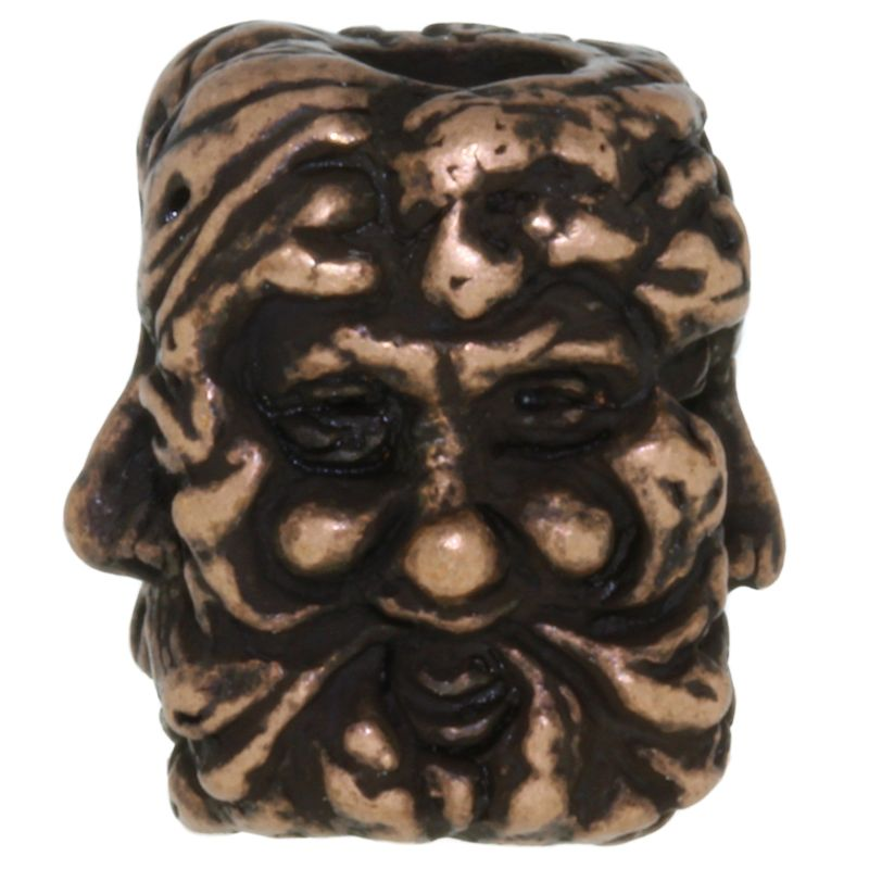 Green Man Bead in Roman Copper Oxide Finish by Schmuckatelli Co.