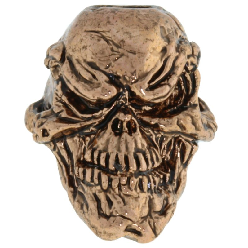 Grins Skull Bead in Antique Copper Finish by Schmuckatelli Co.