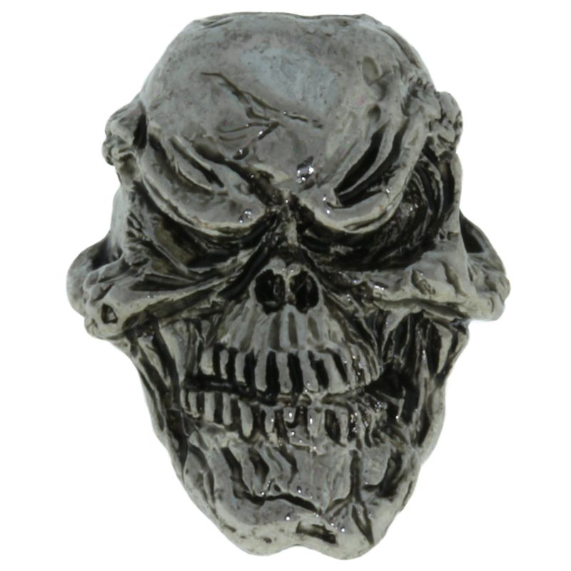 Grins Skull Bead in Antique Rhodium Finish by Schmuckatelli Co.
