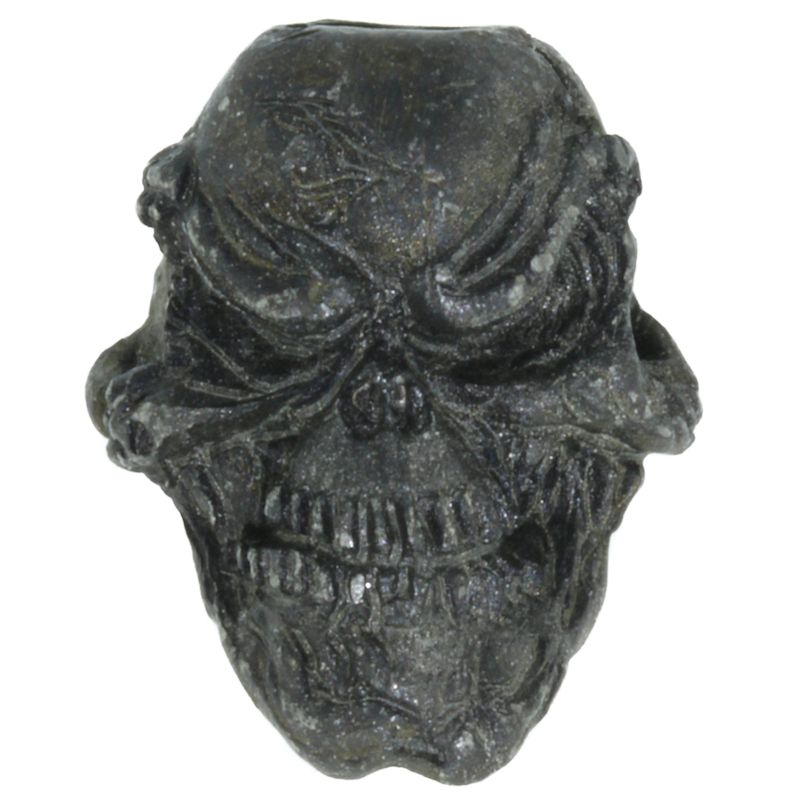 Grins Skull Bead in Black Oxide Finish by Schmuckatelli Co.