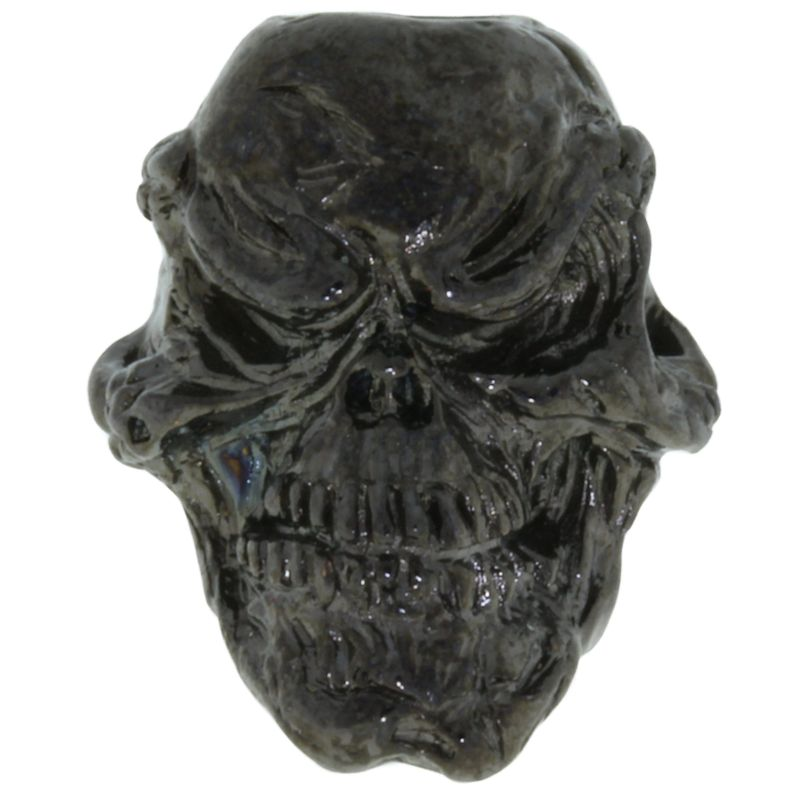 Grins Skull Bead in Hematite Finish by Schmuckatelli Co.
