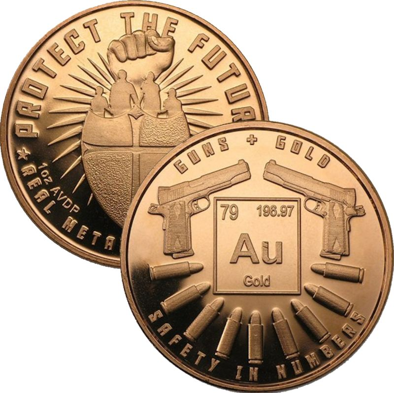 Guns And Gold 1 oz .999 Pure Copper Round