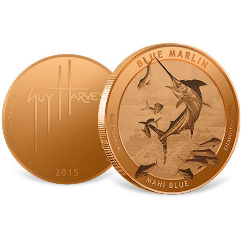 Guy Harvey (2015) 1 oz .999 Pure Copper Round - Click Image to Close