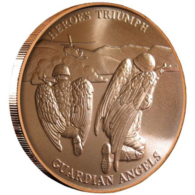 Heroes Triumph Guardian Angles 1 oz .999 Pure Copper Round