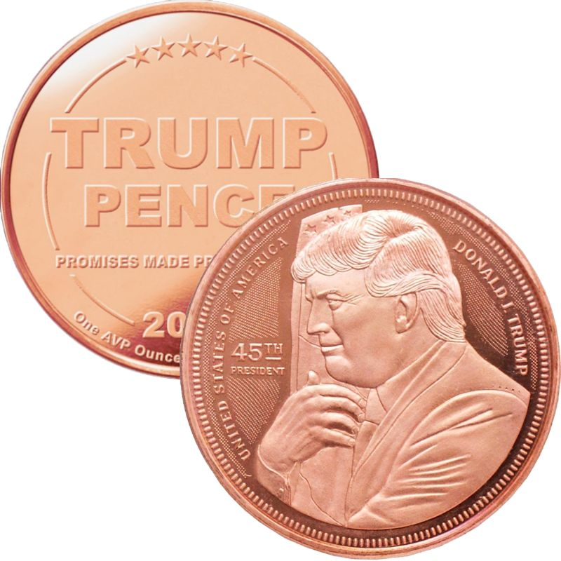 Trump ~ Hugging The Flag 1 oz .999 Pure Copper Round