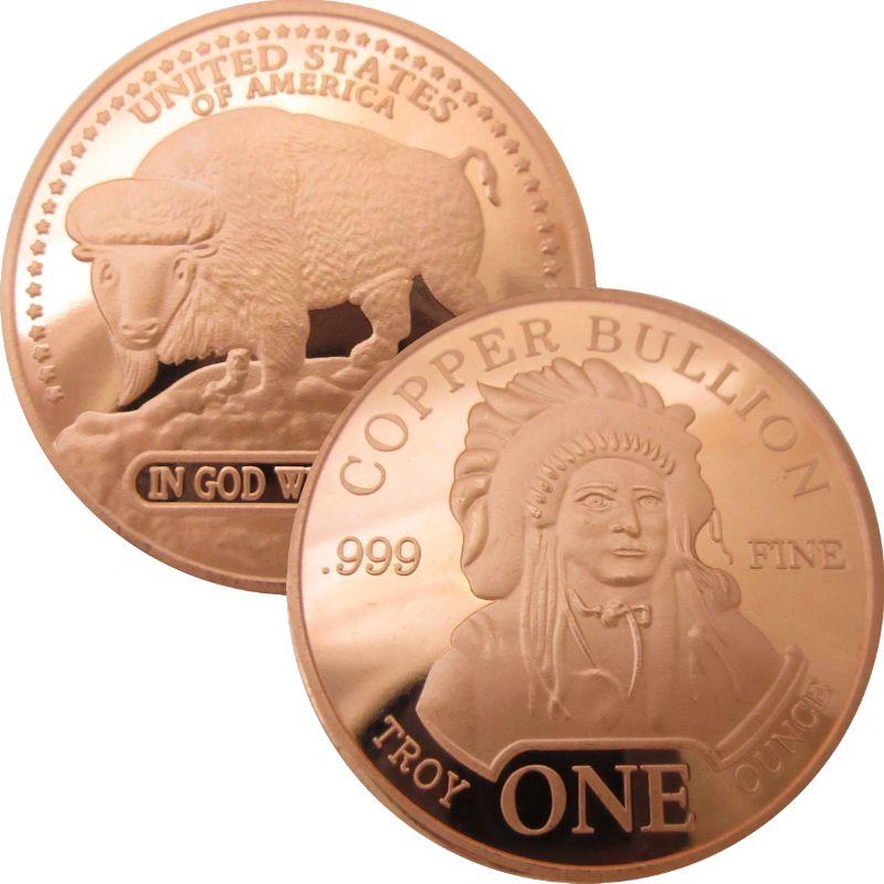 Incuse Indian 1911 1oz Copper Round  #2