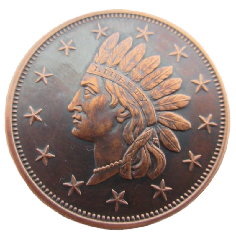 Indian Head Penny 1 oz .999 Pure Copper Round (Black Patina)