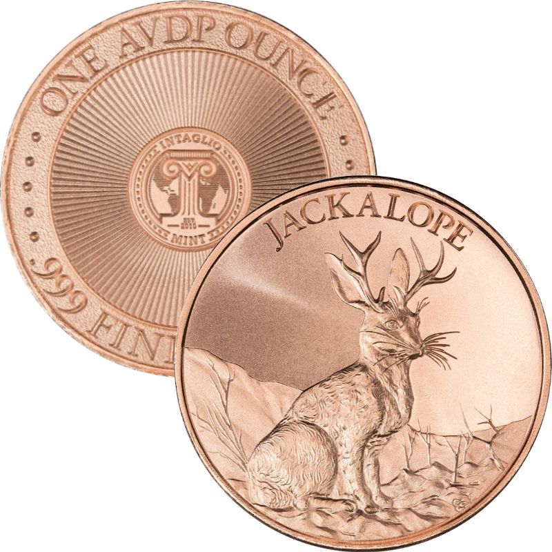 Jackalope 1 oz .999 Pure Copper Round