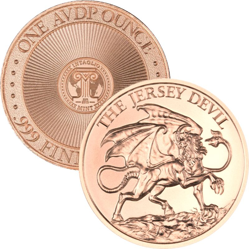 Jersey Devil 1 oz .999 Pure Copper Round