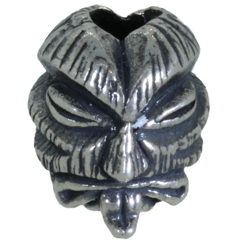 Kiko Tiki Bead in Antique Rhodium Finish by Schmuckatelli Co.
