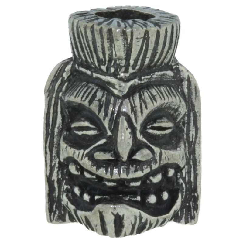 Ku Tiki Bead in Pewter by Schmuckatelli Co.