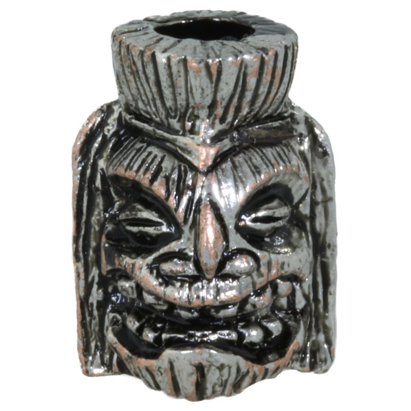 Ku Tiki Bead in Antique Rhodium Finish by Schmuckatelli Co.