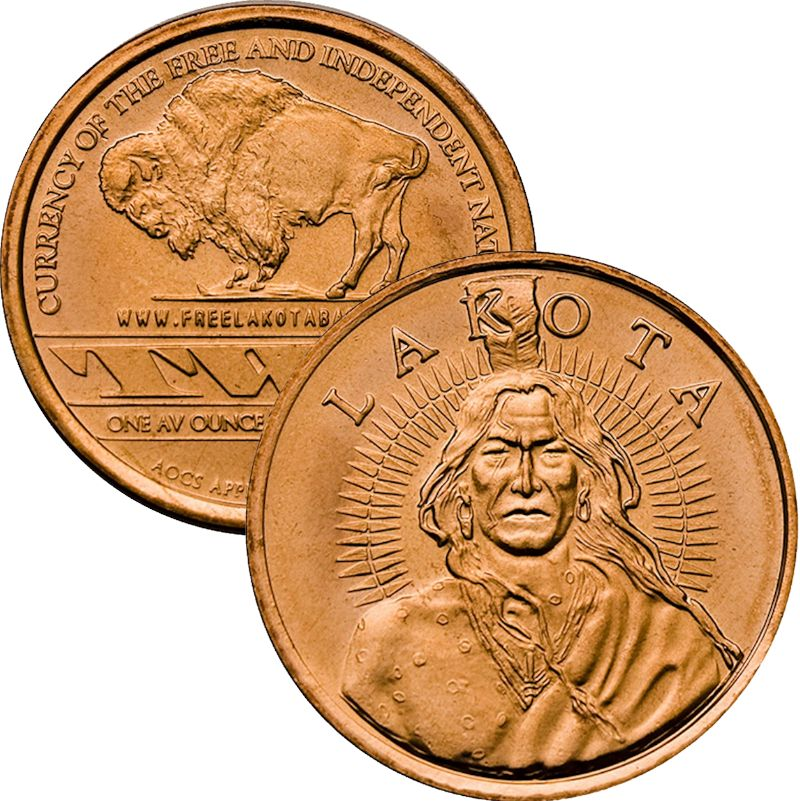 "Lakota ""Crazy Horse"" (AOCS) (2011) 1 oz .999 Pure Copper Round"