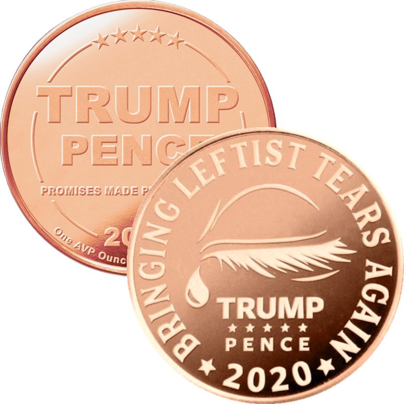 Trump ~ Leftist Tears 1 oz .999 Pure Copper Round