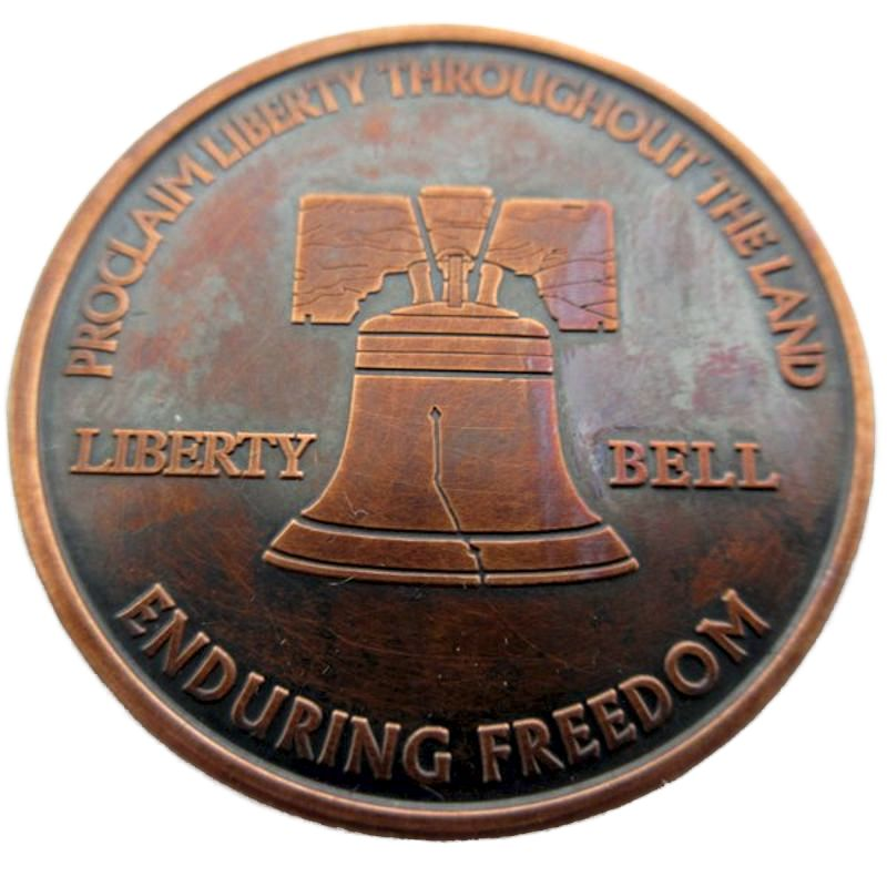 Liberty Bell (Enduring Freedom Series) 1 oz .999 Pure Copper Round (Presston Mint) (Black Patina)