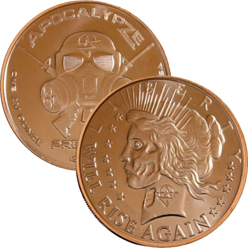 Liberty Will Rize Again 1 oz .999 Pure Copper Round (6th Design of the ApocalypZe Series)