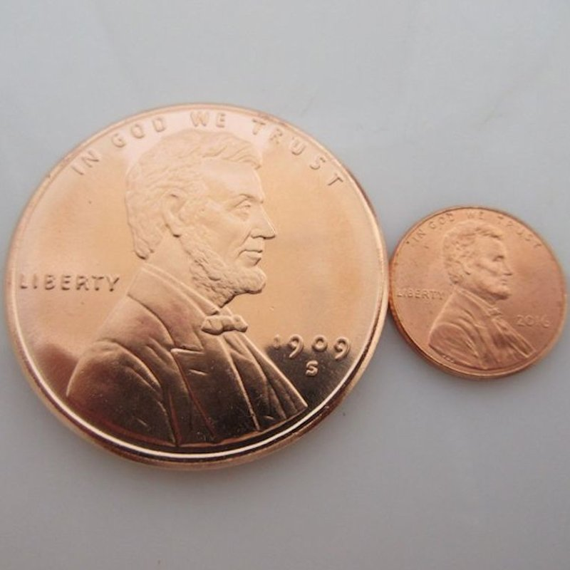 Lincoln Bust Cent Design 1 oz .999 Pure Copper Round (Golden State Mint)
