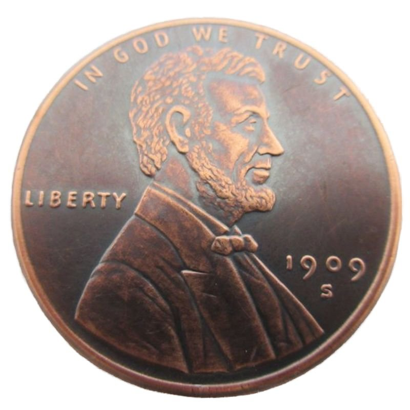 Lincoln Bust Cent Design 1 oz .999 Pure Copper Round (Golden State Mint) (Black Patina)