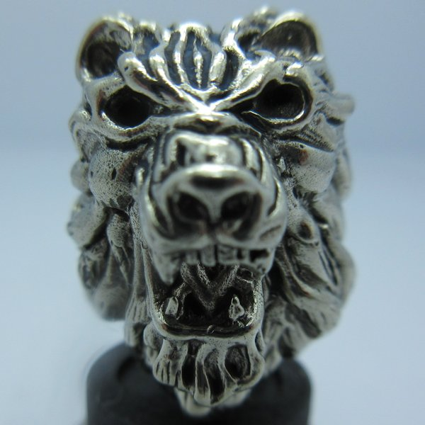 Roaring Lion in White Brass by Covenant Everyday Gear