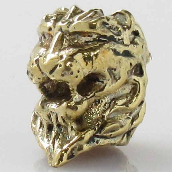 Lion Spacer Bead in Brass by Covenant Everyday Gear