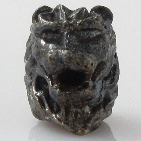 Lion Spacer Bead in Brass With Black Patina by Covenant Everyday Gear