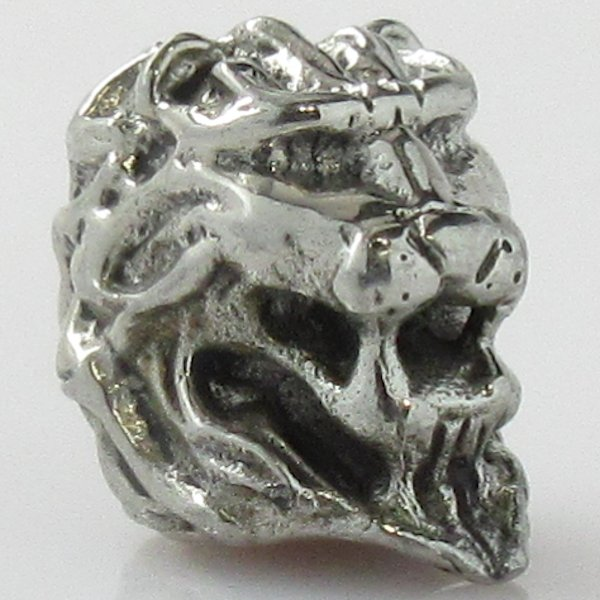 Lion Spacer Bead in White Brass by Covenant Everyday Gear