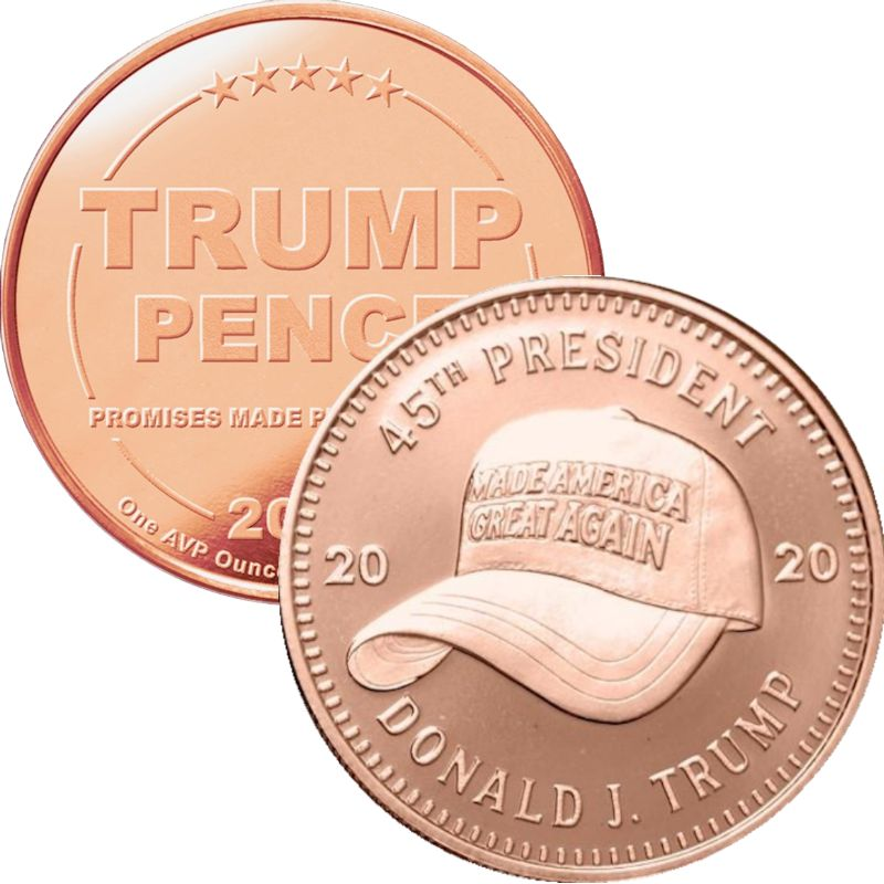 Trump ~ MAGA Hat 1 oz .999 Pure Copper Round