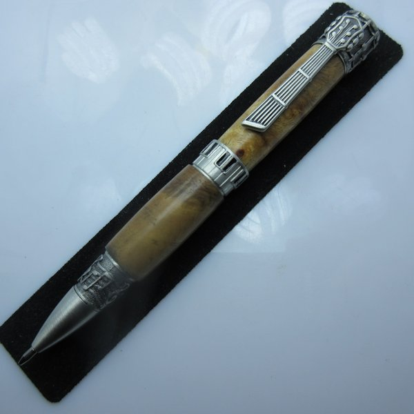 Music Twist Pen in (Maple Burl) Antique Pewter
