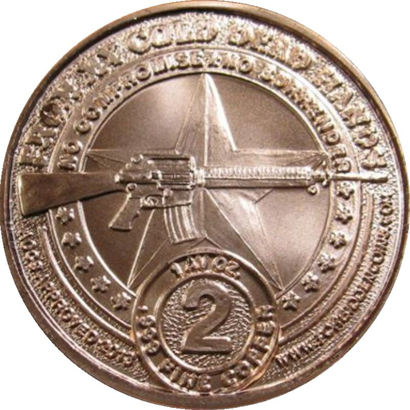 "Militia ""From My Cold Dead Hands"" (AOCS) (2013) 1 oz .999 Pure Copper Round"