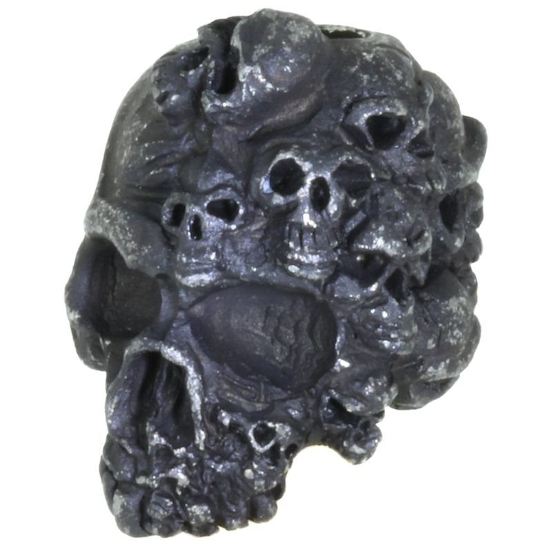 Mind Skull Bead in Black Oxide Finish by Schmuckatelli Co.