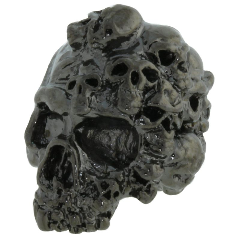 Mind Skull Bead in Hematite Finish by Schmuckatelli Co.