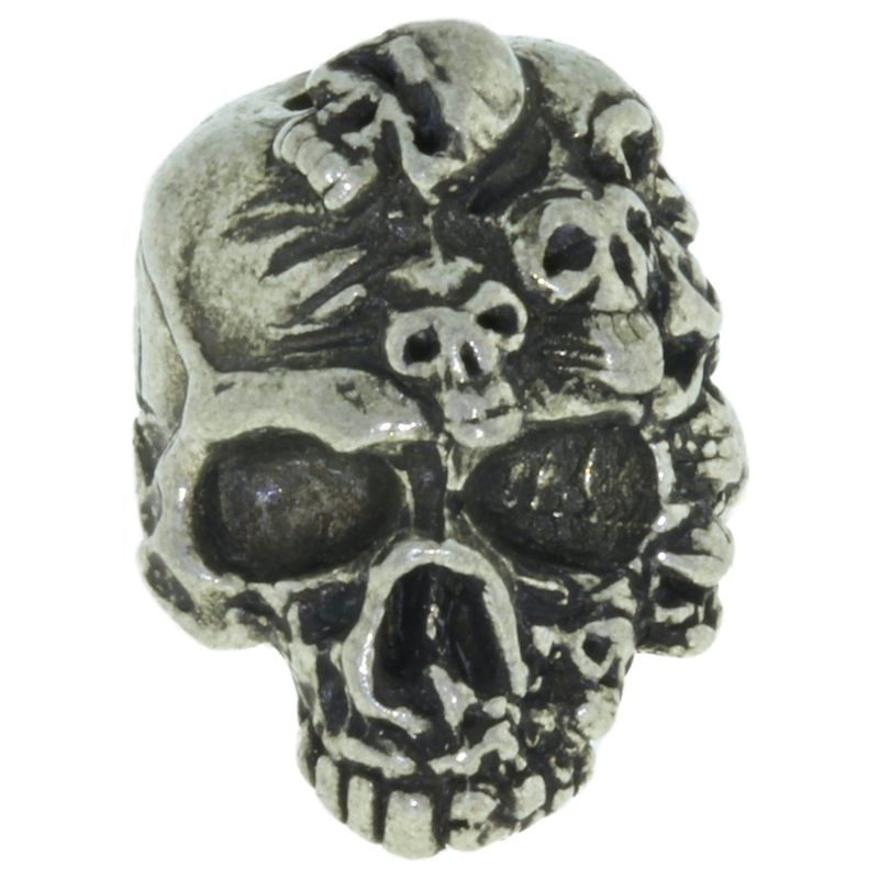 Mind Skull Bead in Pewter by Schmuckatelli Co.
