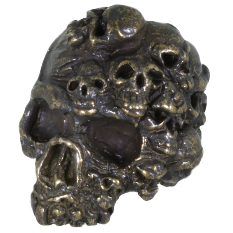 Mind Skull Bead in Solid Oil Rubbed Bronze by Schmuckatelli Co.
