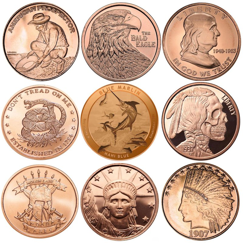 Miscellaneous Copper Rounds