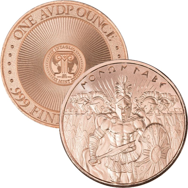 "Molon Labe ""Come & Take It"" (Design II) 1 oz .999 Pure Copper Round"