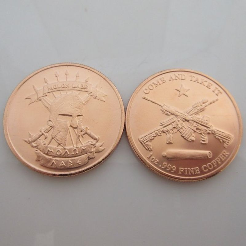 Molon Labe ~ Come And Take [Them] 1 oz .999 Pure Copper Round