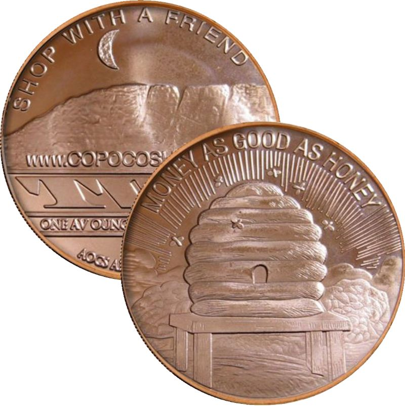 Money As Good As Honey (AOCS) (2012) 1 oz .999 Pure Copper Round