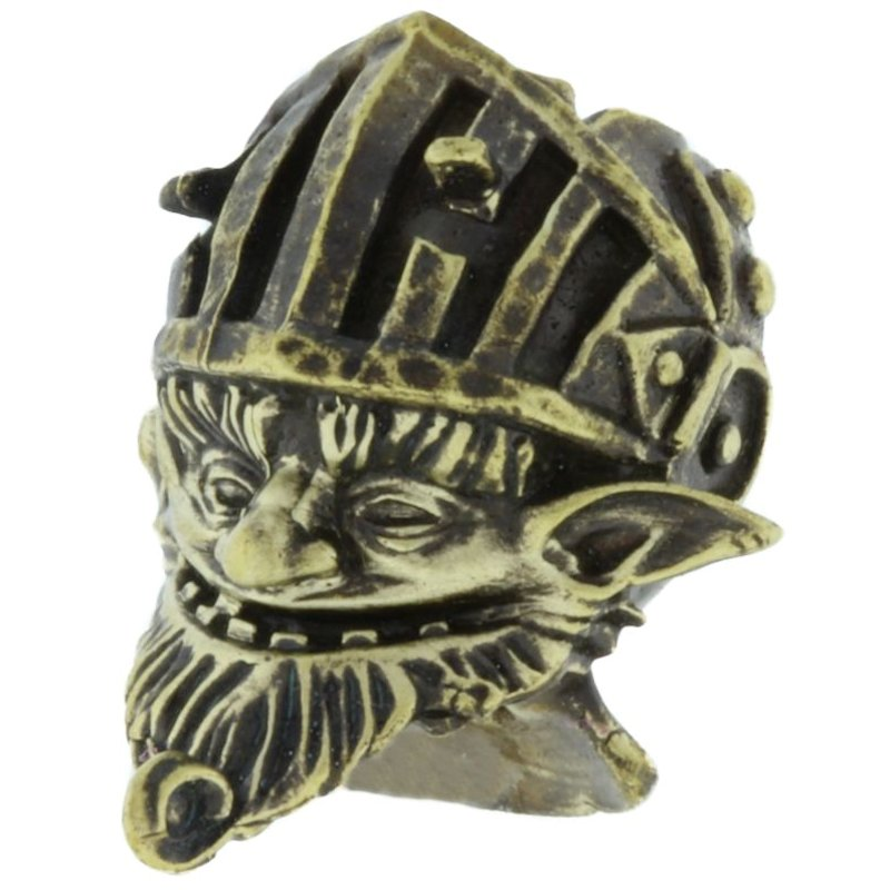 Money Gnome In Brass By Techno Silver
