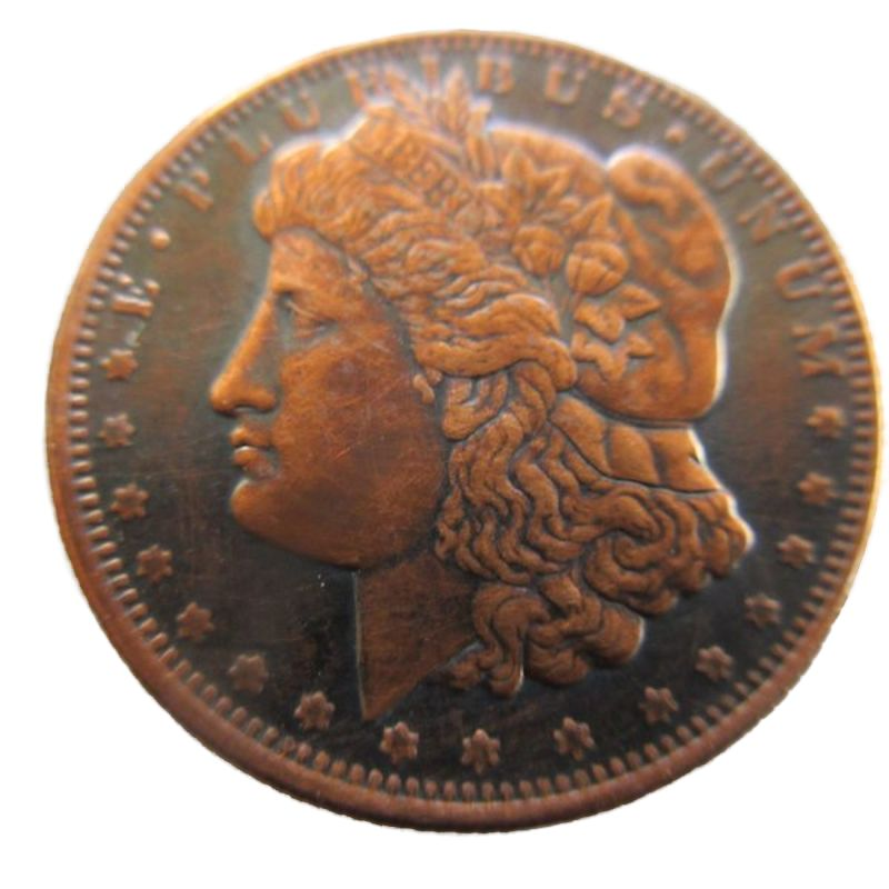 1/4 oz Morgan Dollar Design .999 Pure Copper Round (Black Patina)