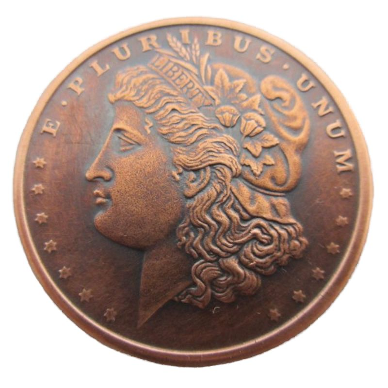 Morgan Dollar 1 oz .999 Pure Copper Round (Black Patina)