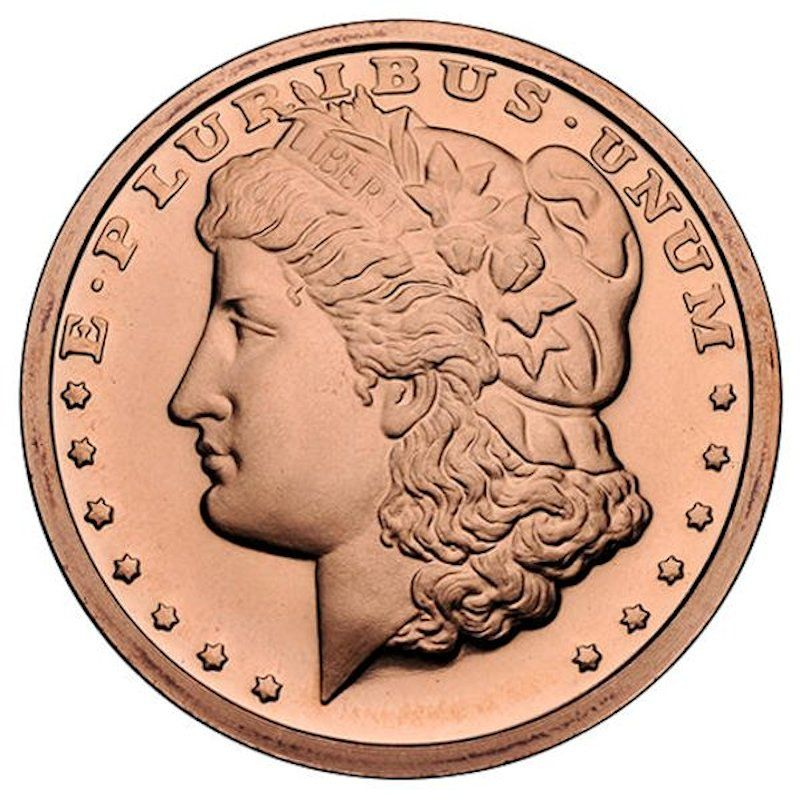 Morgan Dollar 1oz .999 1 oz .999 Pure Copper Round
