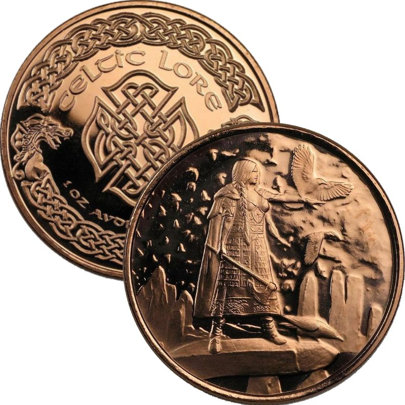 The Morrigan 1 oz .999 Pure Copper Round (2nd Design of the Celtic Lore Series)
