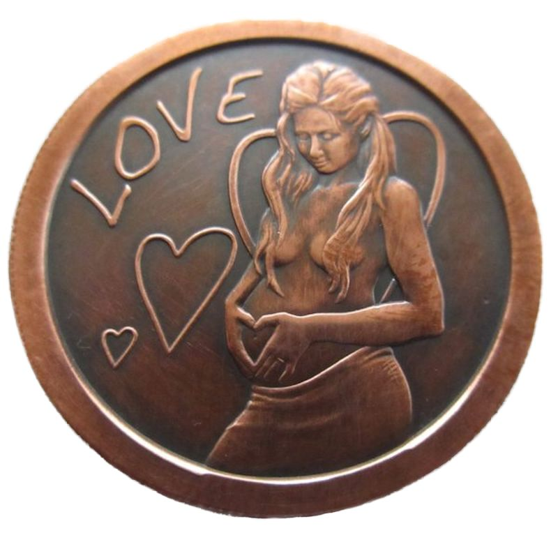 A Mothers Love 1 oz .999 Pure Copper Round (2016 Silver Shield) (Black Patina)