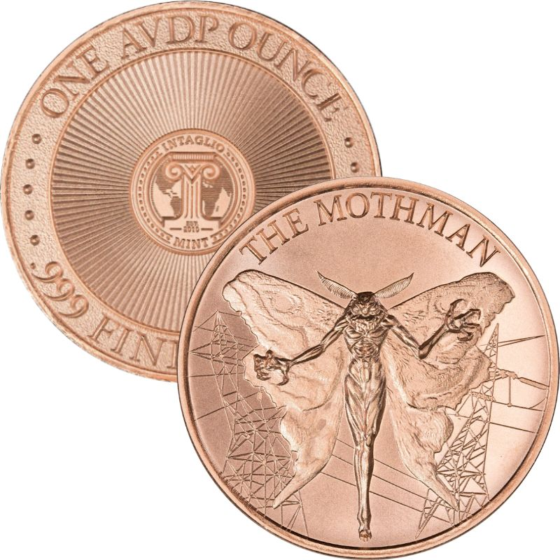 Mothman 1 oz .999 Pure Copper Round