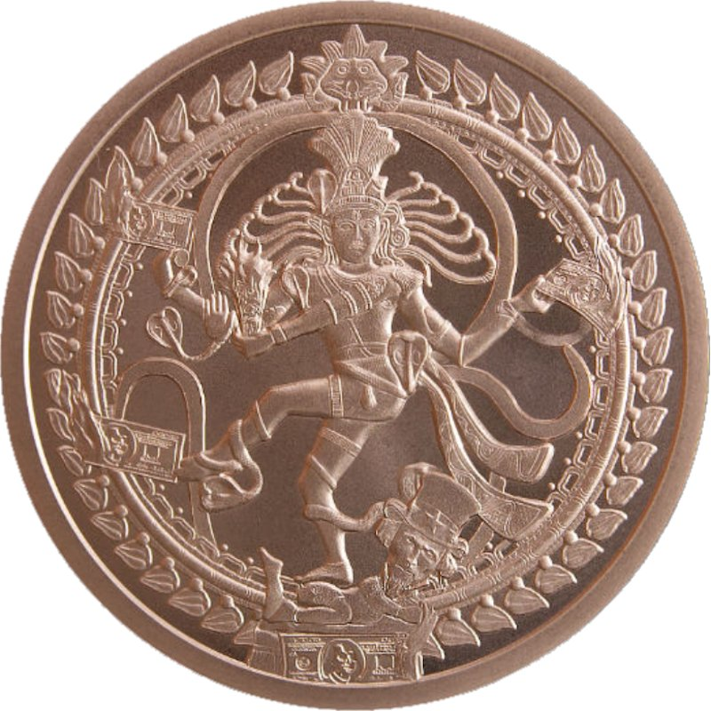 Nataraja #134 (2019 Silver Shield Mini Mintage) 2 oz .999 Pure Copper Round