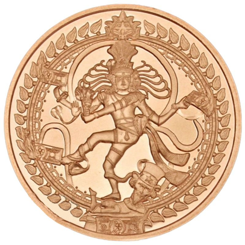 Nataraja #35 (2017 Silver Shield Mini Mintage) 1 oz .999 Pure Copper Round