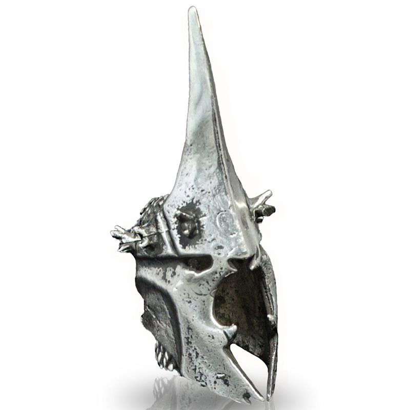 Nazgul Helmet Bead in Nickel Silver by Russki Designs