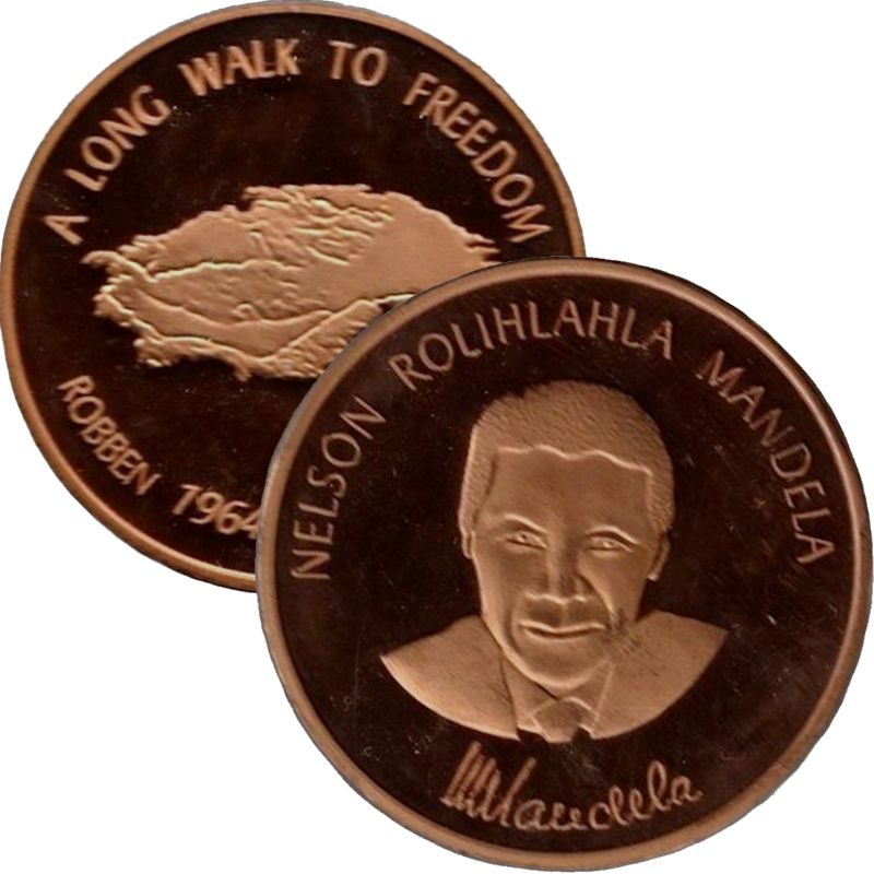 Nelson Mandela 1oz Copper Round